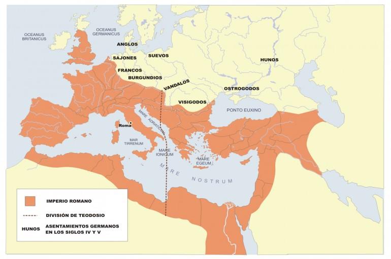 División del Imperio Romano Teodosio