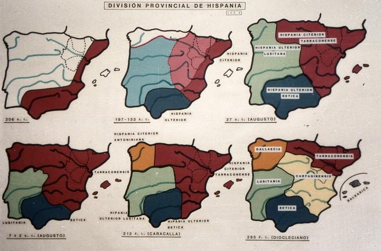 División provincial en Hispania