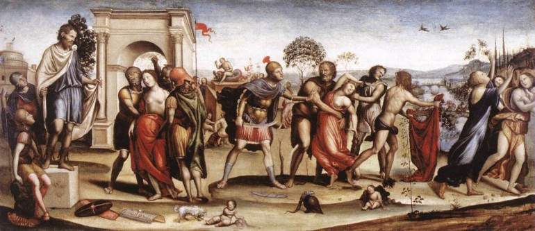 Fundación de Roma Rapto de las Sabinas