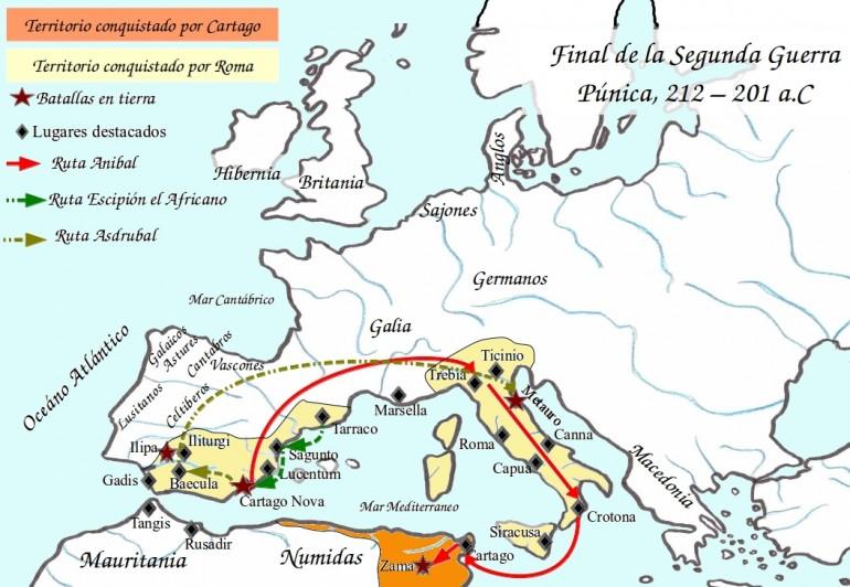 Segunda Guerra Púnica Mapa